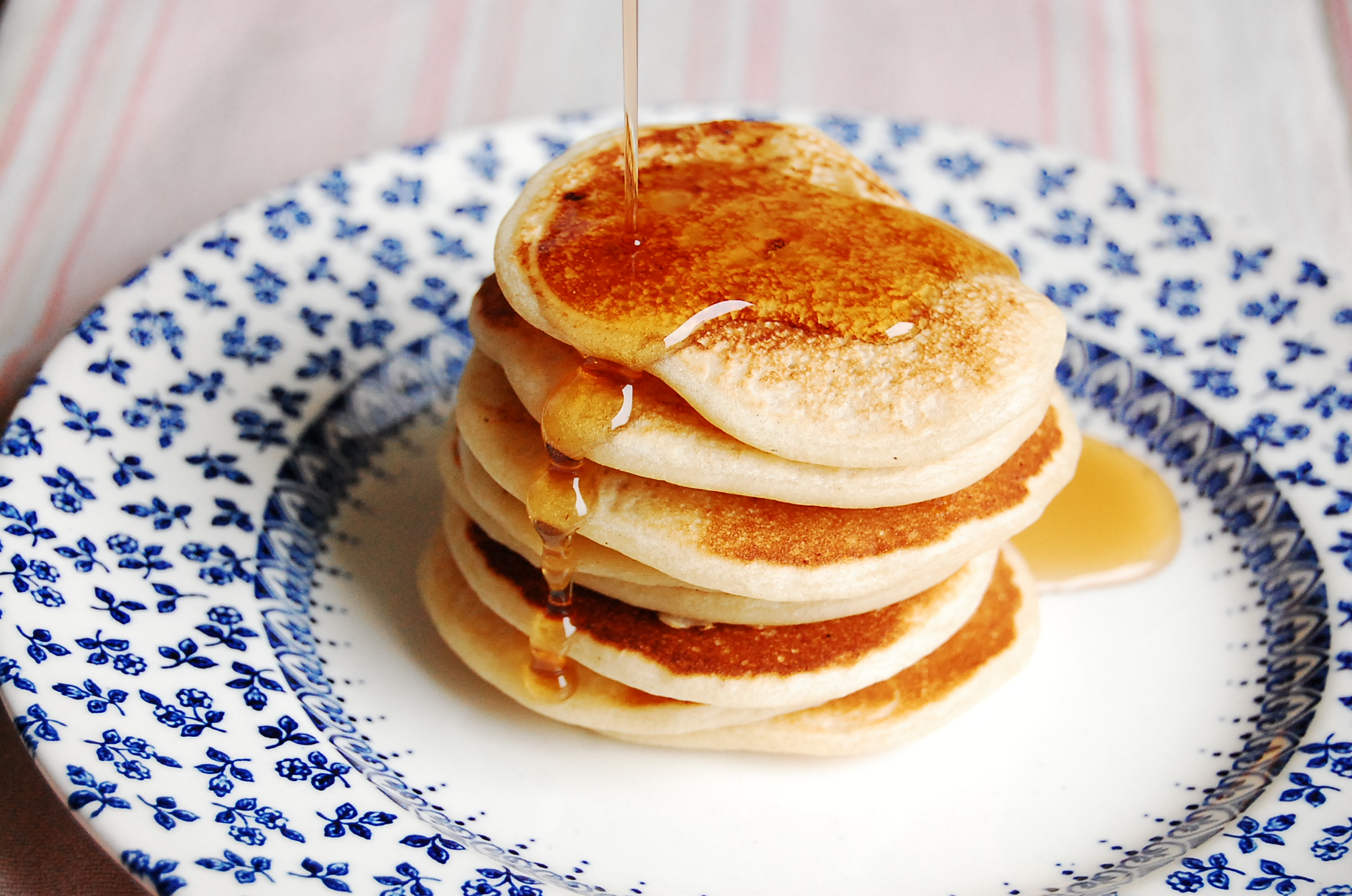 Mini Pancakes with Maple Syrup