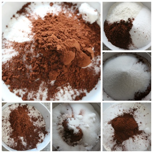 preparing chocolate cupcakes