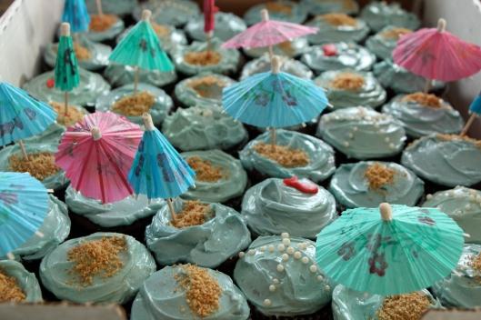 Cupcakes (sea, ocean, beach)