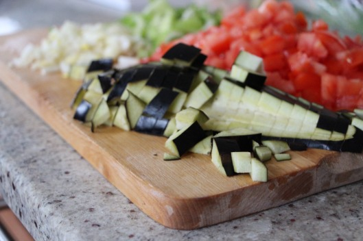 Cubing Vegetables…