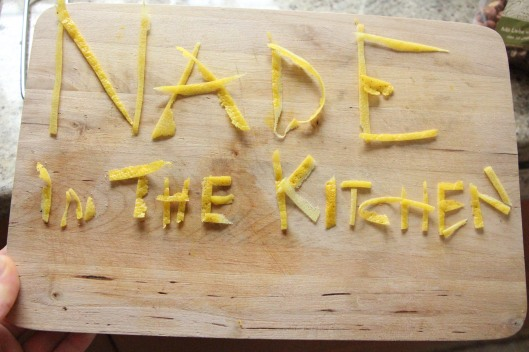 nade in the kitchen - lemon zest is awesome