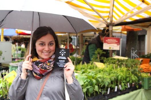 me at the rainy market :)