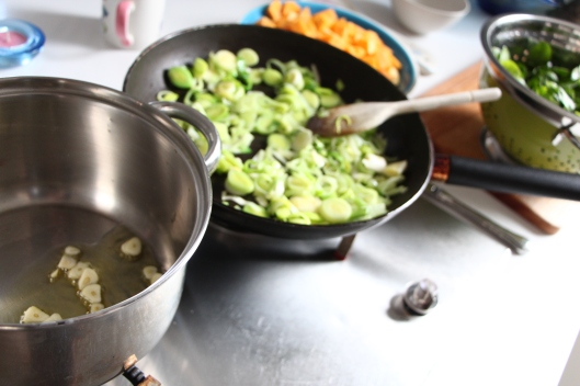 leek, garlic and butternut