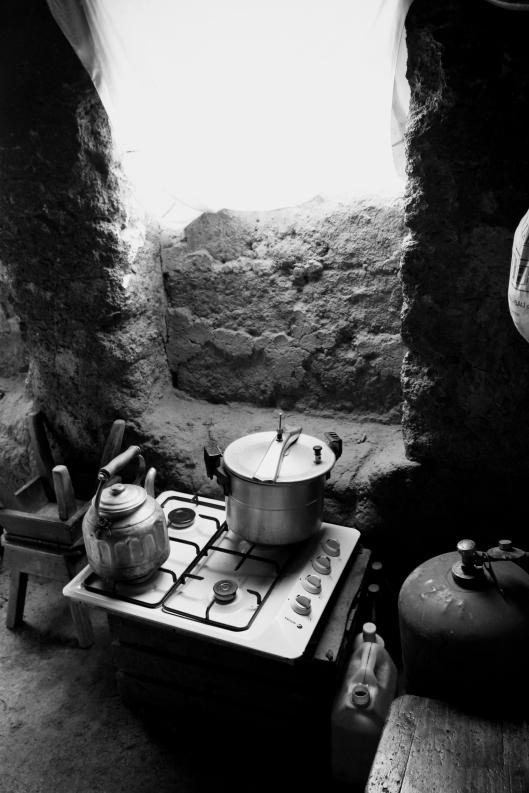 Berber Stove in the Kitchen