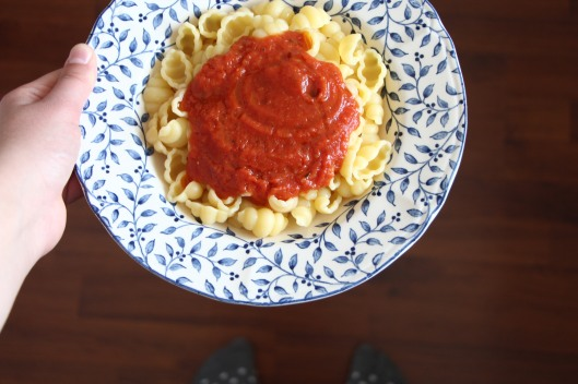 Pasta with sugo step by step