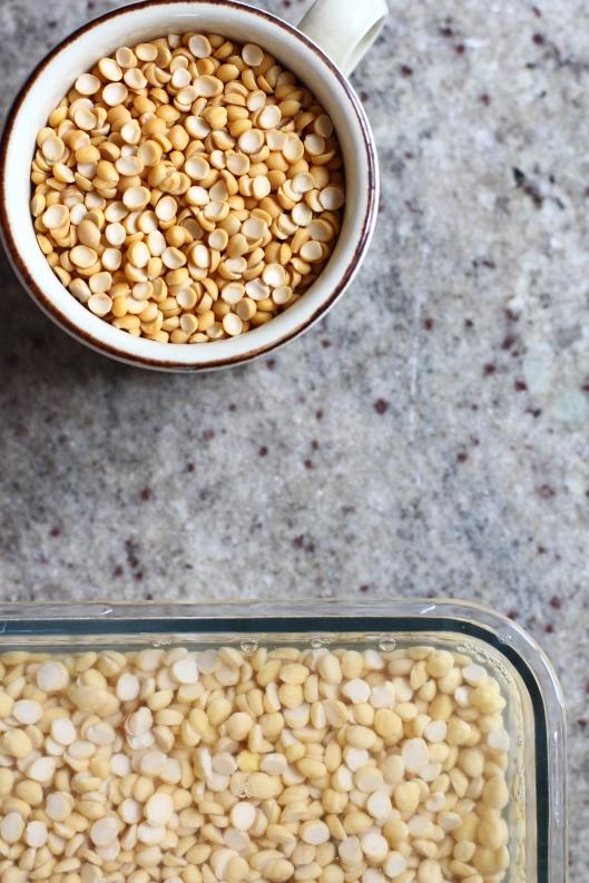 Soaked split peas