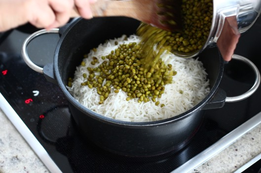 Rice with Mung Beans Recipe