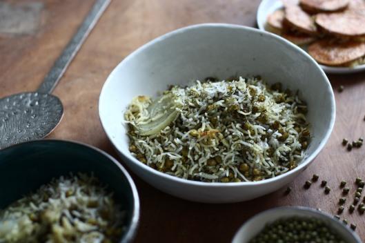 Persischer Reis mit Mungbohnen